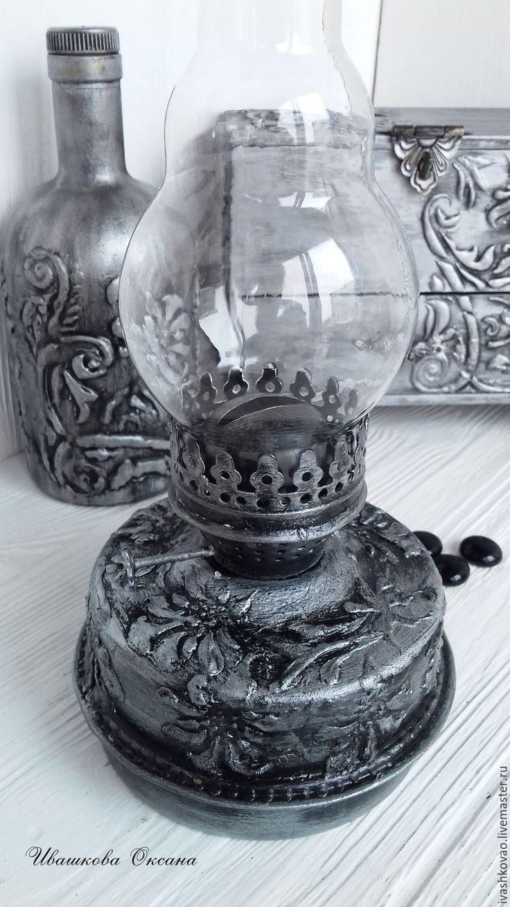 Купить Комплект Чеканка - серебряный, имитация металла, часы, Декоративная бутылка, миникомодик, шкатулка, чеканка