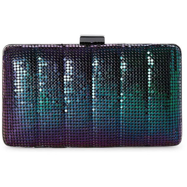 Jessica Mcclintock Peacock Noelle Quilted Mesh Clutch (€20) ❤ liked on Polyvore featuring bags, handbags, clutches, purses, pink, mesh purse, pink quilted purse, man bag, peacocks handbags and clasp purse