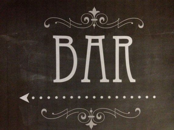 Printable Bar Signs Faux Chalkboard Art Deco by KnottedLife, $5.00