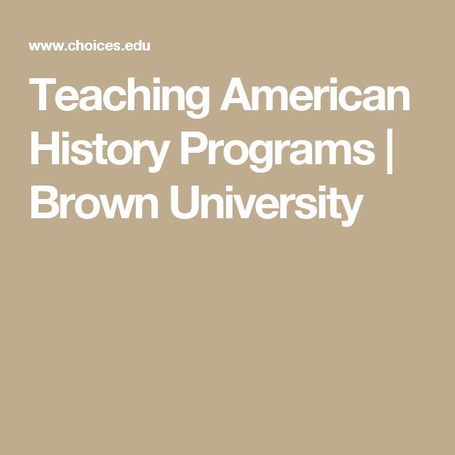 Teaching American History Programs | Brown University