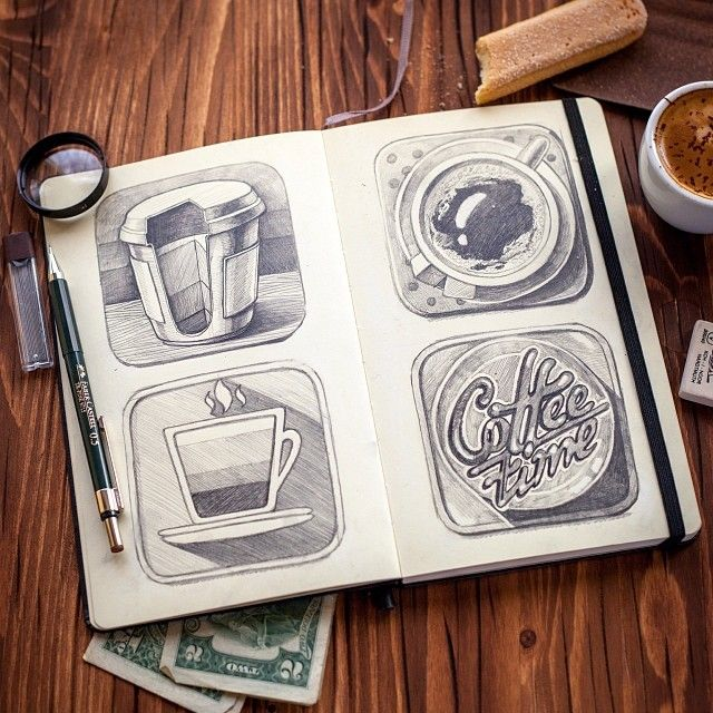 Lovely Sketch Collection on Instagram by Ink Ration | Abduzeedo Design Inspiration