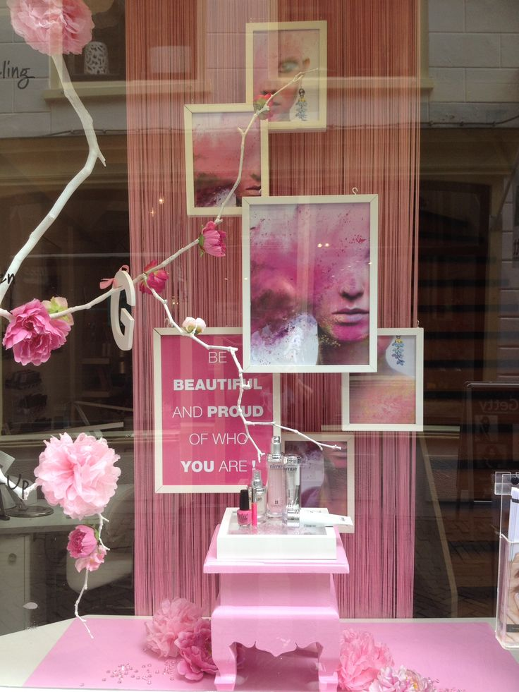 Proud to be gay window display at beauty store styled for Boutique window display ideas