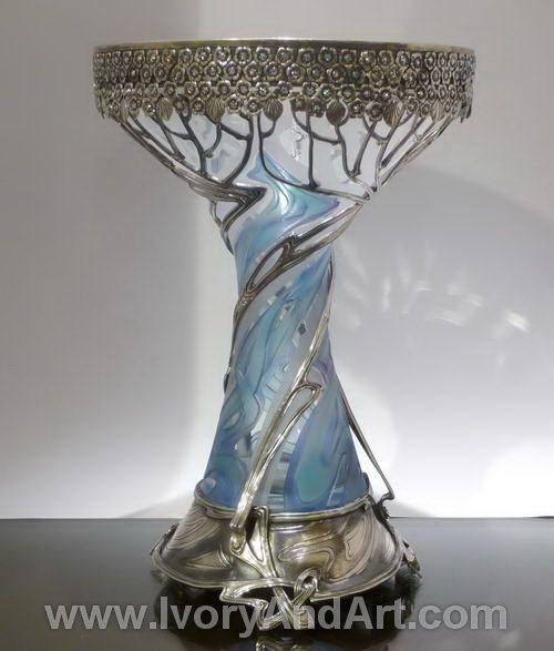 Russian art nouveaux | Russian Silver & Crystal Vase- Art Nouveau. | ~::ART NOUVEAU::~