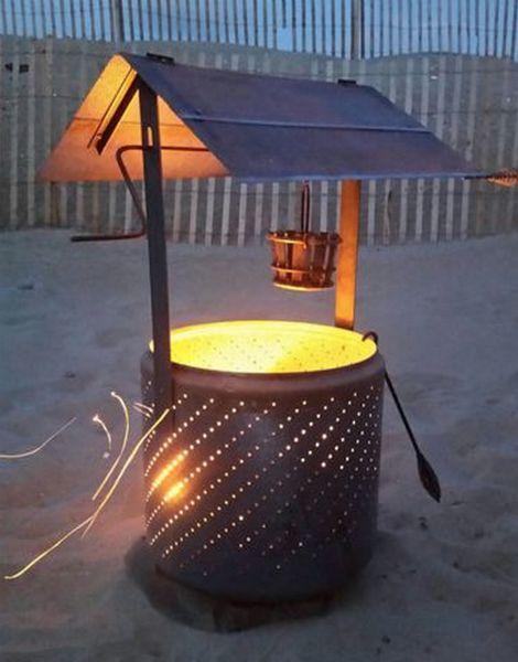 DIY Wishing Well Burn Barrel | Use the tub from a broken washing machine to make a burn barrel that looks like a wishing well.