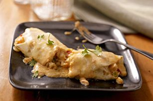 Cheesy Meat-Free Enchiladas recipe    This ended up being pretty good for a Friday in Lent meal.........after having fish every Friday!
