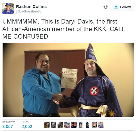 willesqueleto:  sighinastorm:   hattersadventures:  ghettablasta:    Daryl Davis is a Chicago blues musician who uses his friendship with KKK to convince members to leave this organization. He successfully persuaded 25 former white supremacists that theres another way. Davis has his own strategy he explains and talks to people in more than friendly way that allows to prevent usual misunderstanding.   They may be yelling and screaming or pounding the table but at least theyre talking theyre…