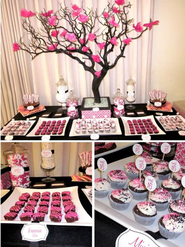 Sweet 16 party charlottes baby shower pinterest for 16 birthday decoration ideas
