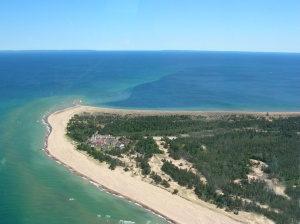 Whitefish Point, Michigan...if you don't want to go to Hell, Michigan, you can go to Paradise...lots of interesting things to see there...one of my favorites...the Great Lakes Shipwreck Museum...North of St. Ignace on Hwy 123, along Lake Superior. For the record, Hell is roughly 340 miles due south of Paradise.