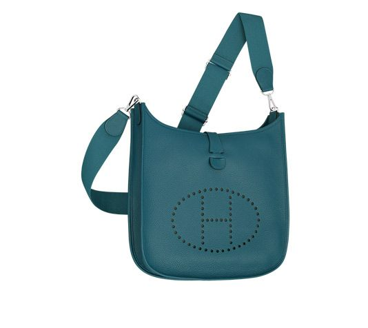 Lindy Hermes bag in blue jean taurillon clemence calfskin leather ...
