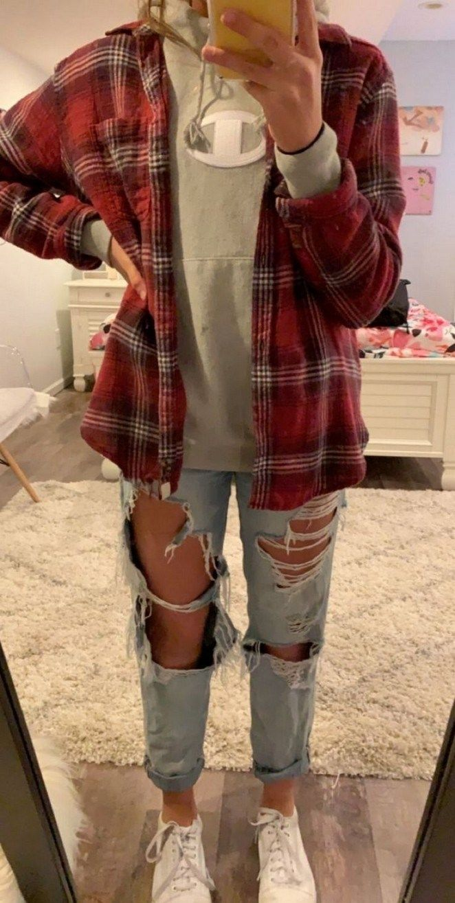 41 Trendy Fall Outfit Ideas to School for Teen Girl #falloutfitideas #falloutfit…