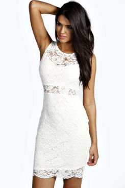 Lola All Over Lace Sweetheart Neck Bodycon Dress