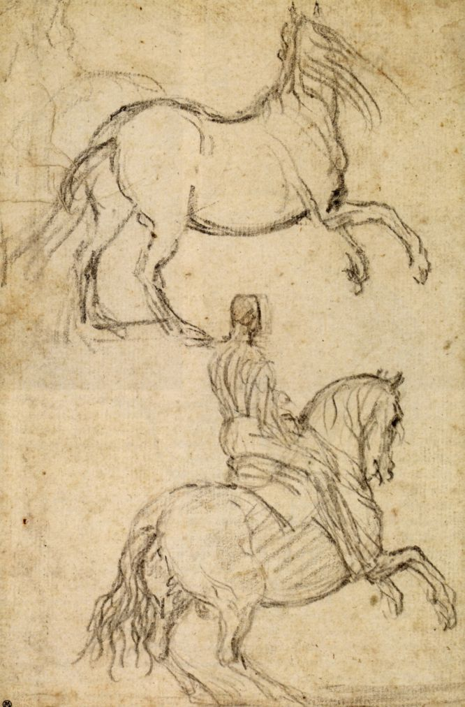 'Apuntes de dos caballos en corveta, uno de ellos con jinete', atribuido a Diego Velázquez. La muestra que ha llegado a Madrid es una versión reducida de la que se pudo ver en el British a finales de 2012.
