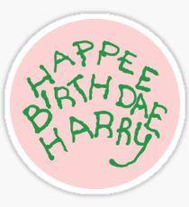 Happee Birthdae Harry - Circle Sticker