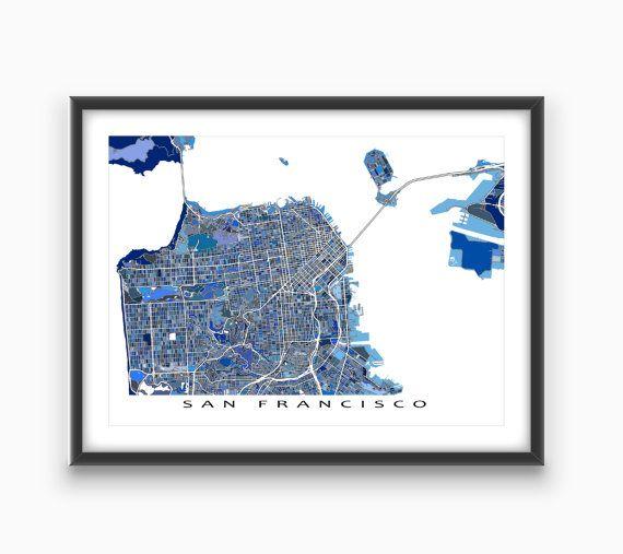 San Francisco Map Print / San Francisco Art / by MapsAsArt on Etsy