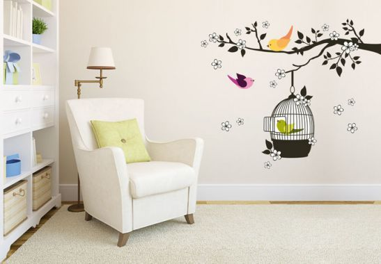 Wall Stickers - Birdies on the Tree Wall sticker