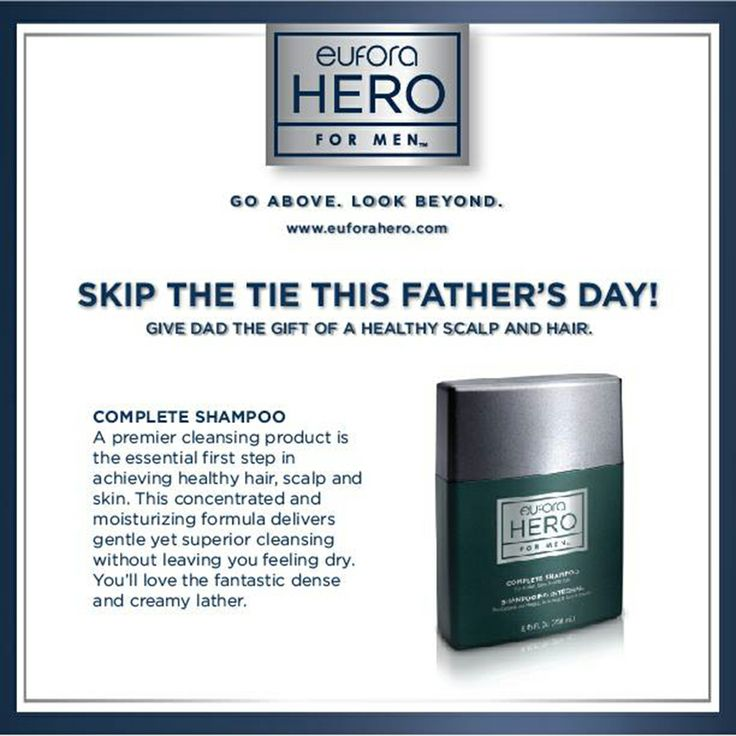 Skip the tie this Fathers Day! Hero's Complete Shampoo is just 1 of the items he'll love in our #fathersday pack!  #fathersday #fathersdaygifts #fathersdaygiftideas #hair #spa #salon #Hairstyle #Haircare #Beauty #Fashion #Haircut #HairstylesForWomen #LongHair #Haircuts #HairExtensions #Hairstyles #Skincare #HairColor #HairCareTips #NaturalHairCare #HairTips #HairSalon #mississauga #clarkson #clarksonON
