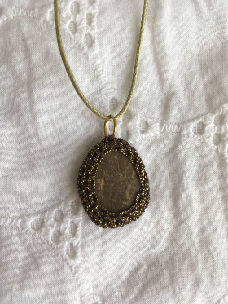 A personal favorite from my Etsy shop https://www.etsy.com/il-en/listing/551534709/stone-necklace-crochet-handmade-gold