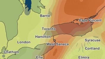 Severe Weather Outlook for Toronto, Ontario - September 10, 2016