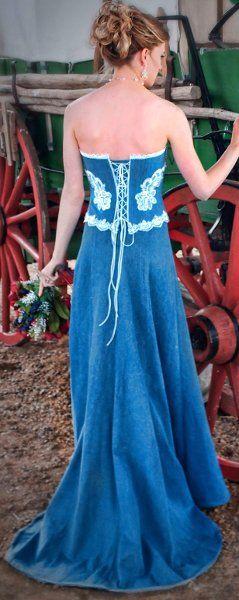 denim wedding dresses for the cowgirl @ clickincowgirls.com