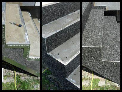 Steinteppich Treppenrenovierung