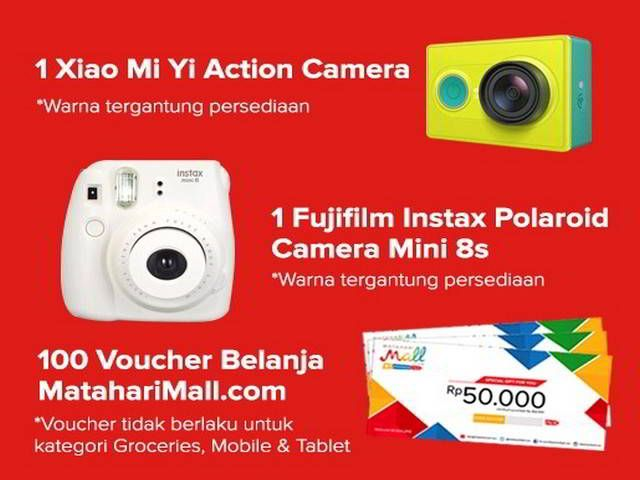 Kuis Indonesia Bangga Berhadiah Xiaomi Yi Action Camera - Hai sobat MisterKuis! MatahariMall.com bersama Monipla mengadakan kuis berhadiah kamera Xiaomi