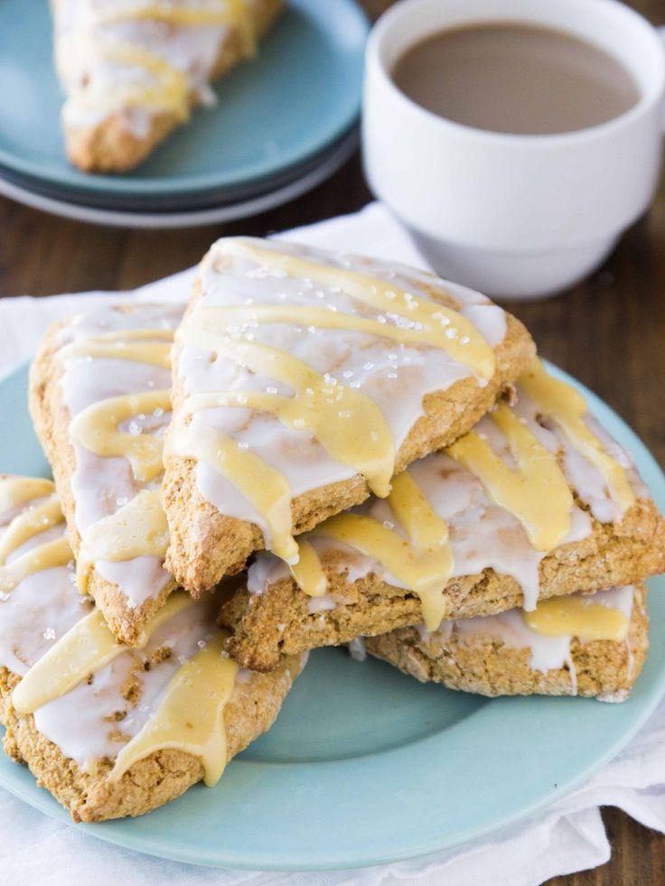 Better-For-You Vegan Copycat Starbucks Pumpkin Scones // veggieandthebeastfeast.com #vegan