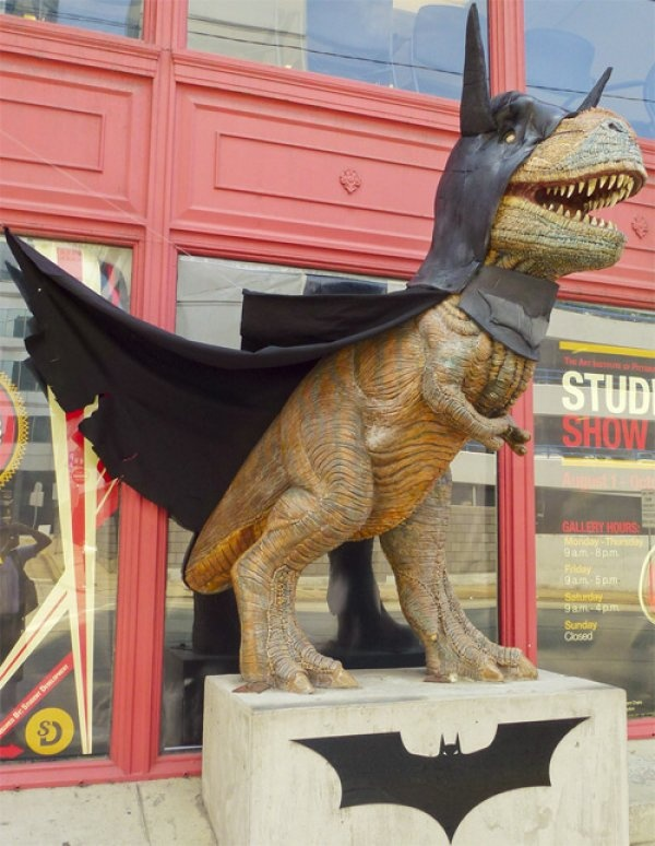 .: Jurassic Parks, Batman Trex, Awesome, Gotham Cities, Writing Prompts, Front Yard, Coolest Things Ever, Man Art, Batman T Rex