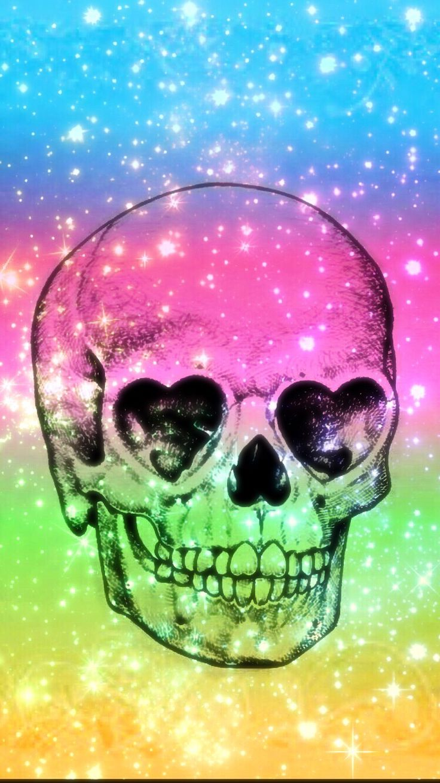 Skulls wallpaper 270 pinterest girly skull voltagebd Choice Image