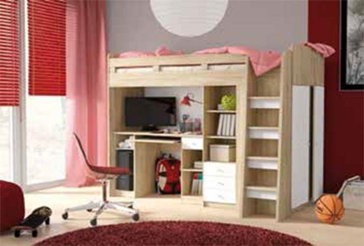 Σετ κρεβάτι γραφείο ντουλάπα