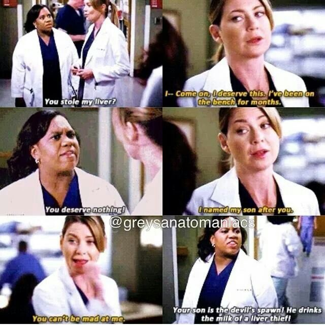 Haha I love the banter filled relationship Meredith & Bailey share <3