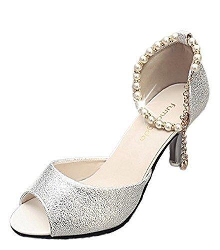 Oferta: 8.92€. Comprar Ofertas de Minetom Mujer Verano Elegante Tacón Alto Hebilla Diamantes De Imitación Con Cuentas Fina Sandalias Cabeza Pescado Zapatos Pla barato. ¡Mira las ofertas!