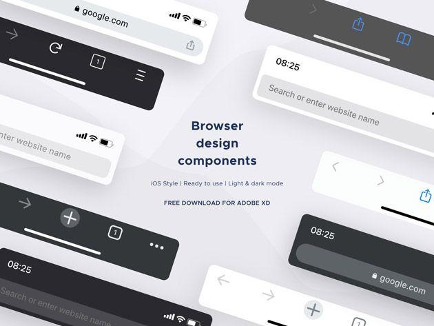Mobile Browser Mockup Templates Adobe Xd Mockup Templates Web Graphic Design Mobile Mockup