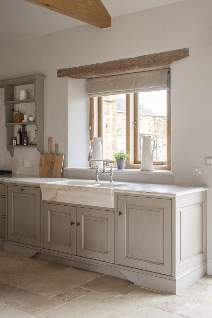 This bespoke modern rustic kitchen, designed for a new build  read more