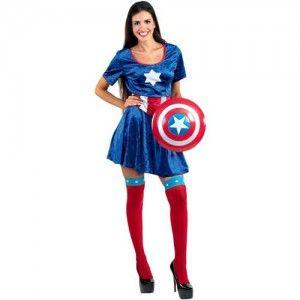 Captain  Σαμ γυναικεία στολή σούπερ ήρωα