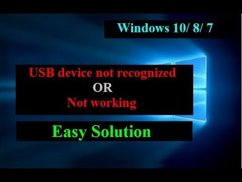 How To Fix USB Ports Not Working Or Not Recognized Windows
