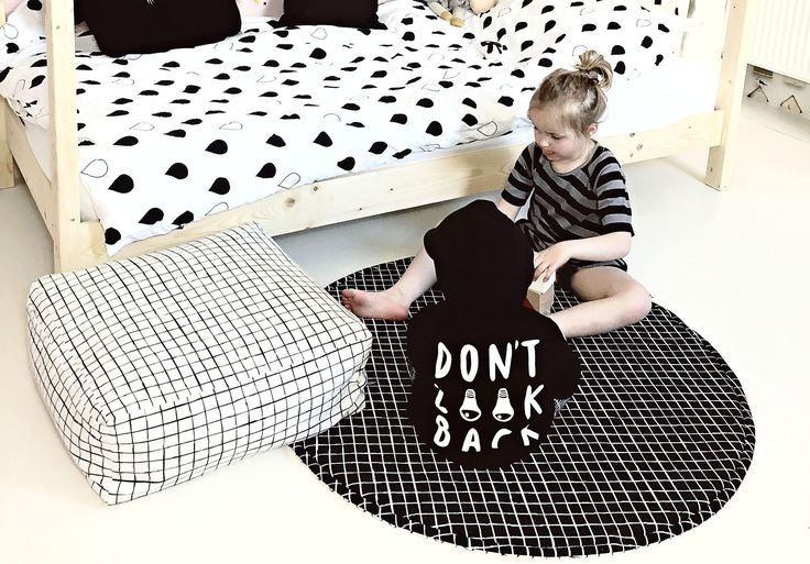 Soft floor pillowis a perfect seat for a toddler while playing or reading books.