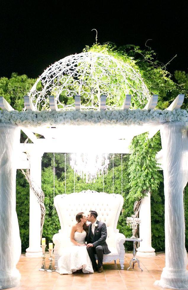 Twinkle Lights At Villa De Amore Temecula California Vineyard Wedding Venue Villa De Amore In 2020 Vineyard Wedding Venue Wedding Ceremony Decorations Twinkle Lights