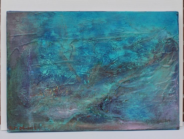 17 beste idee n over blauw schilderij op pinterest abstracte schilderijen abstracte kunst en - Schilderij van gang ...