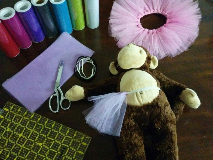 Tulle tutus for Build-A-Bear party favors