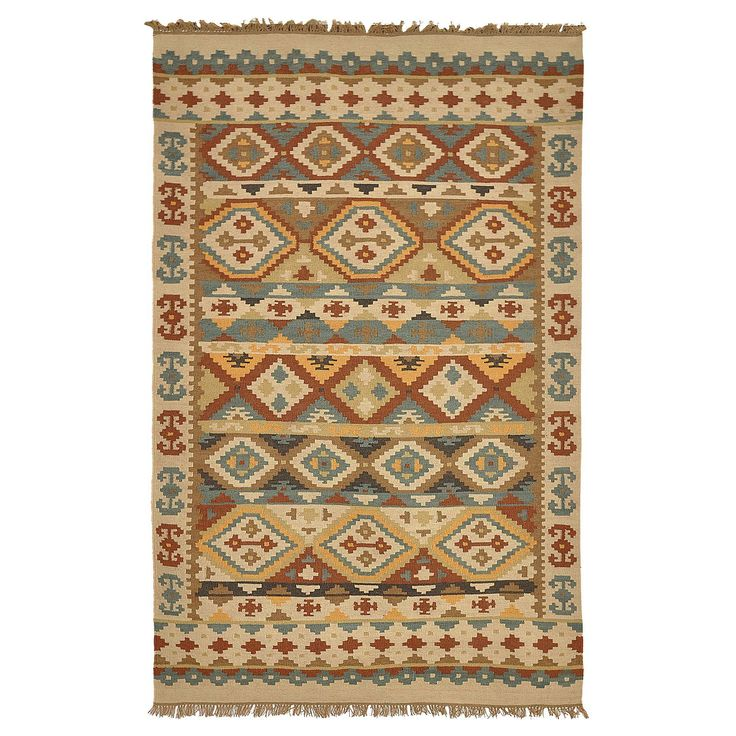 Kosas Home Lark Olive Green and Brown Tribal Pattern Indoor/ Outdoor Recycled Kilim