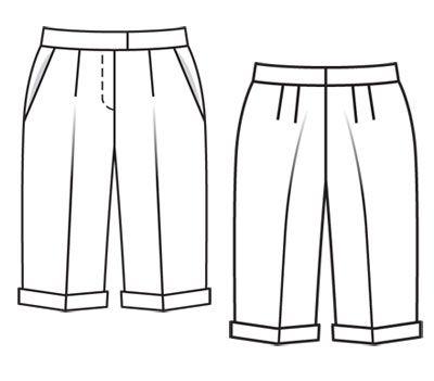 Les 218 Meilleures Images Du Tableau Patron Burda Pantalons Shorts Sur Pinterest Pantalons