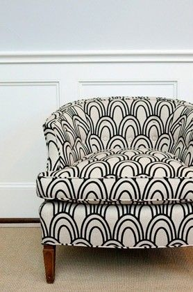 Goes with anything. Except perhaps a black long haired kitty.Studios Bon, Black And White, Living Room, Upholstered Chairs, Black White, Club Chairs, Accent Chairs, Upholstery Fabrics, Design