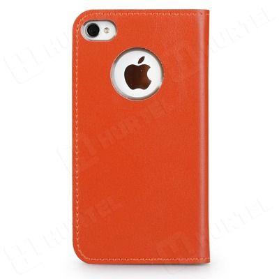 Wycofywane z oferty | Elegancka skórzana kabura na iPhone 4S 4 GGMM Kiss pomarańczowa | EKLIK - Sklep GSM, Akcesoria na tablet i telefon