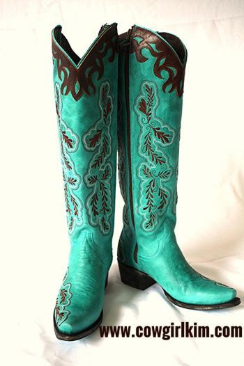 Best 25  Turquoise boots ideas on Pinterest | Blue cowgirl boots ...