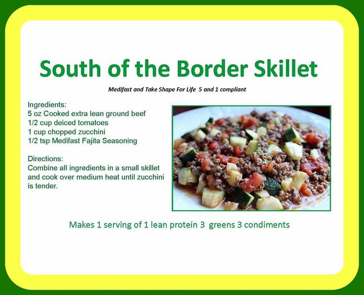 Lean and Gree/Medifast Compliant South of the Border Skillet