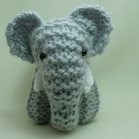 Crochet Elephant : Amigurumi Elephant, knitted, elephant, softie