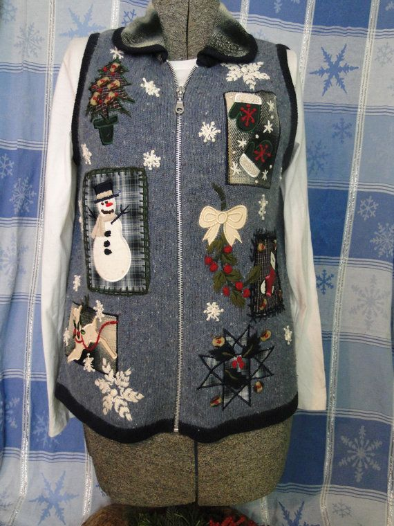 Cheap Ugly  Christmas Jumper  Tacky, Gaudy, Novelty, Holiday, Party, Xmas by ABetterSweaterShop on Etsy K19