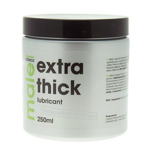 Male extra thick lubricant is especially developed for a smooth experience of anal sex. Male extra thick lubricant is durable and non sticky. Condom safe. petrolum based 250 ml £15.99