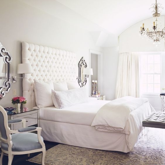 Contemporary Bedroom Lighting Bedroom Interior For Couples Black And White Tiles In Bedroom Bedroom Furniture Black: Best 25+ White Tufted Headboards Ideas On Pinterest