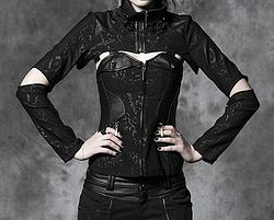CUFF-ME! corset and jacket set ISO cute!